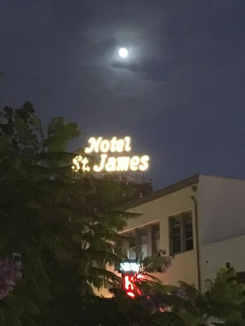 Hotel St. James & full moon