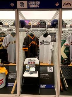 San Diego Padres locker w/ memorabilia
