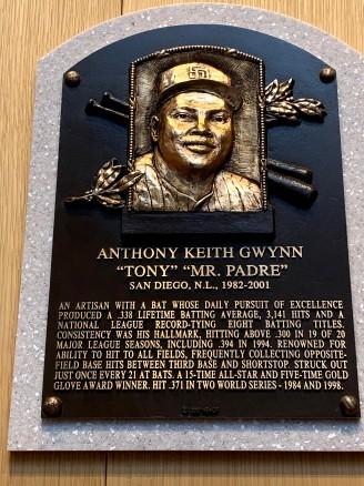 Tony Gwynn plaque
