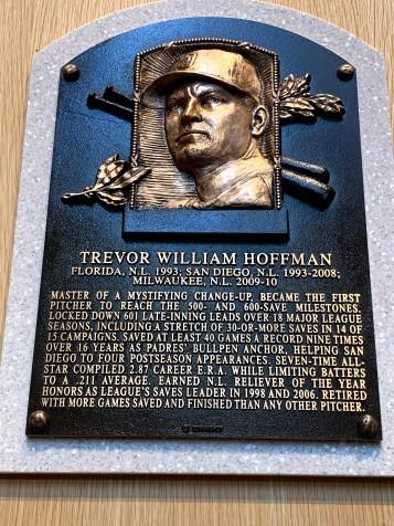 Trevor Hoffman plaque