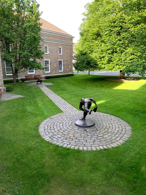 pitcher & catcher sculpture
